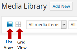 Toggle Between List and Grid View
